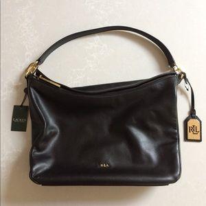 Ralph Lauren Leather Bramfield Callen Hobo Bag